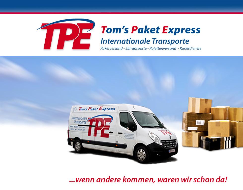 Willkommen auf der Webseite von Tom's Paketexpress!
